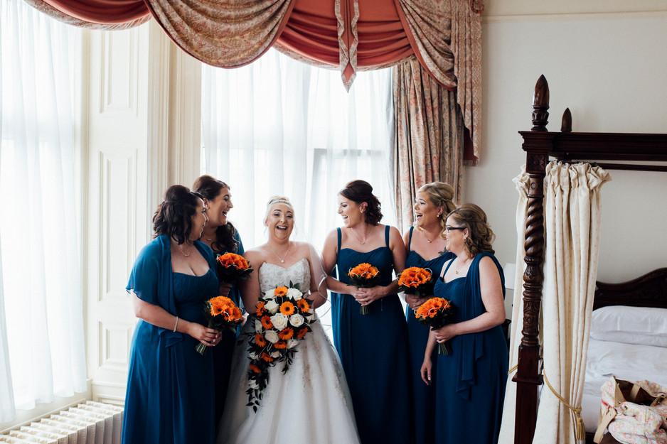 Dunkenhalgh Hotel wedding photographer bridal preperations