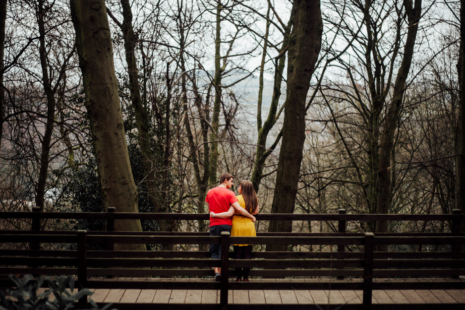 winnie the pooh themed engagement shoot