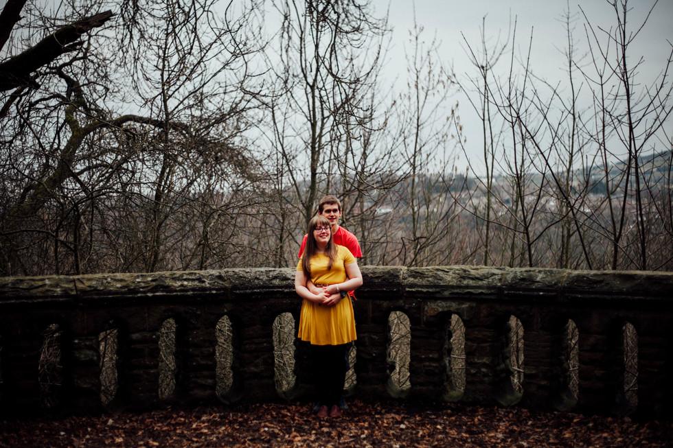birde in beaumont park engagement shoot