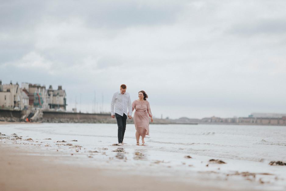 seaside engagement shoot