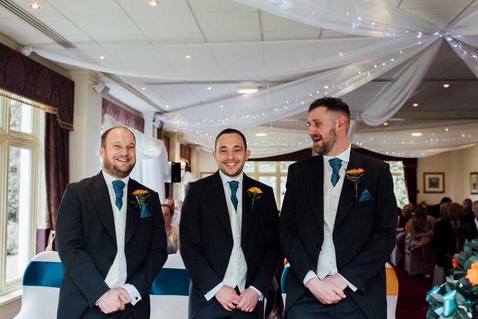 wedding ceremony photography Dunkenhalgh Hotel