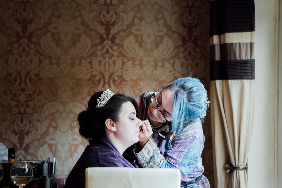 bridal makeup lepton wedding photographer