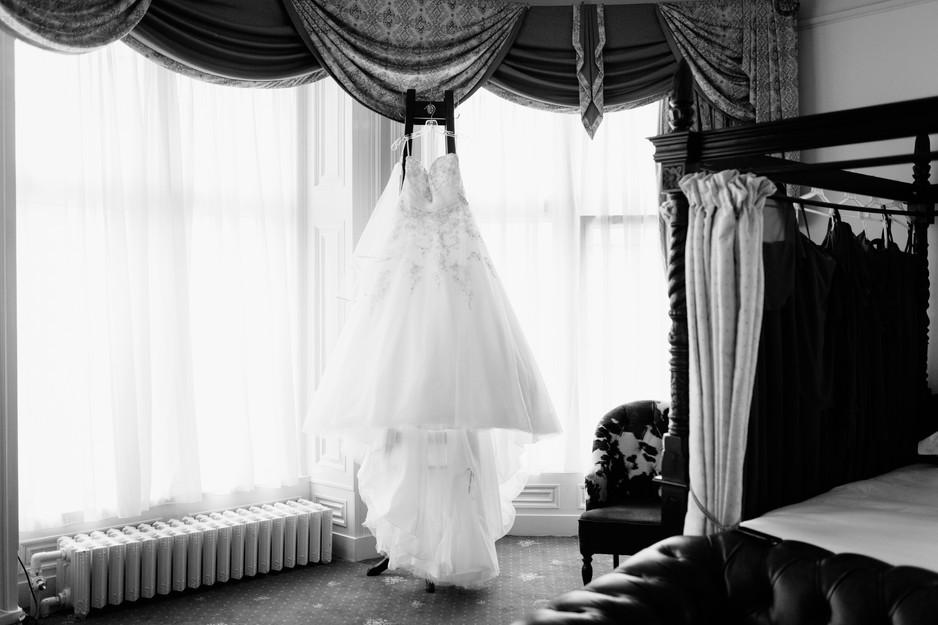 bridal preperations at Dunkenhalgh Hotel