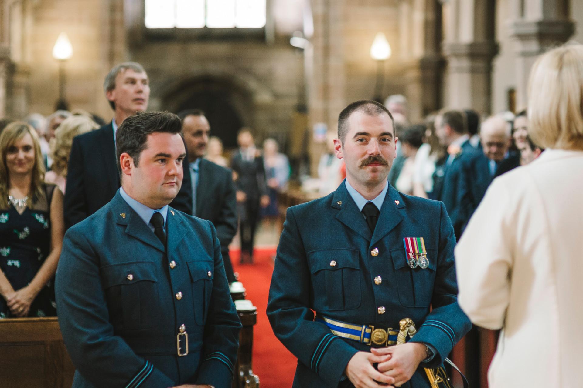 groom waiting in lymm church