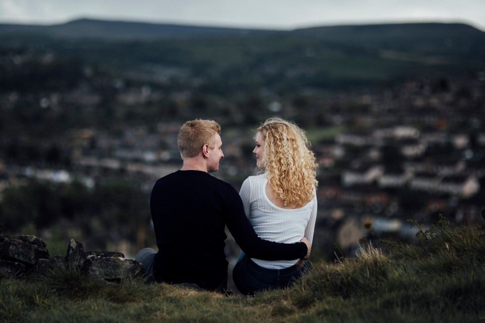 engagement shoot on the moors