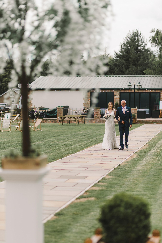 bride at villa farm york
