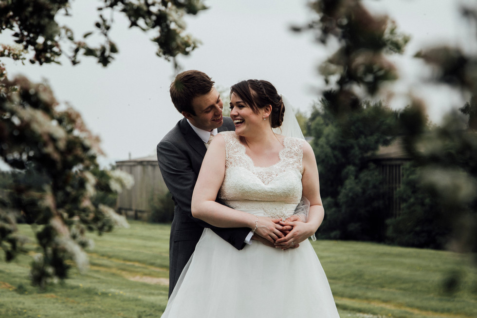 shootle hall wedding bride and groom gadrens