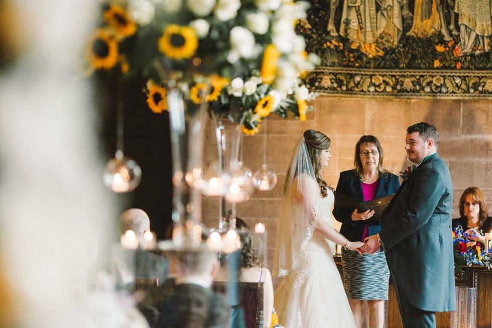 bride and groom peckforton castle