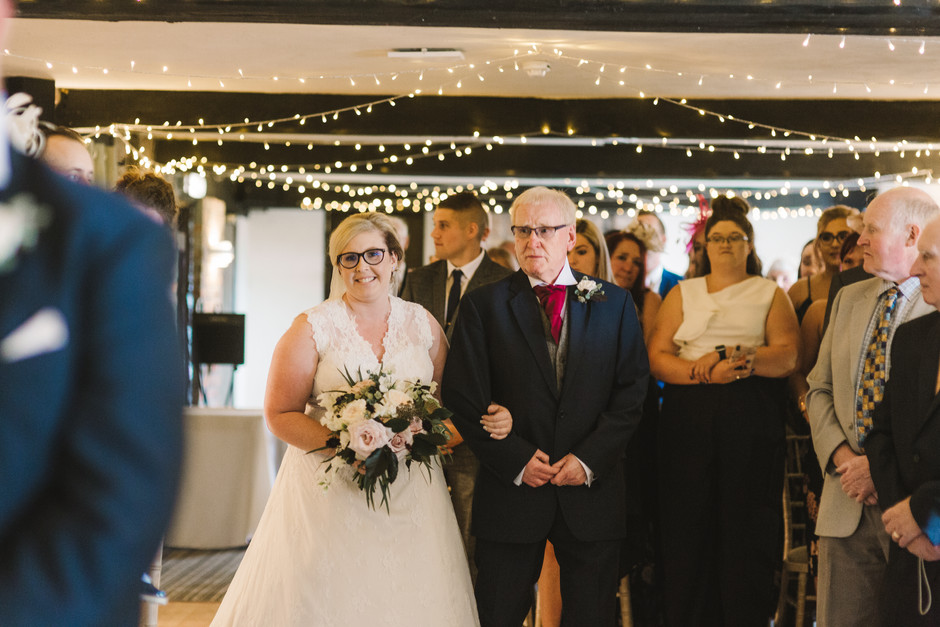 wedding ceremony at fox and goose inn