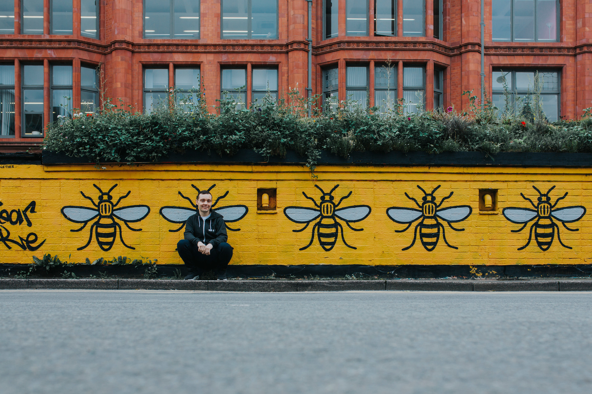 portrait with manchester bee