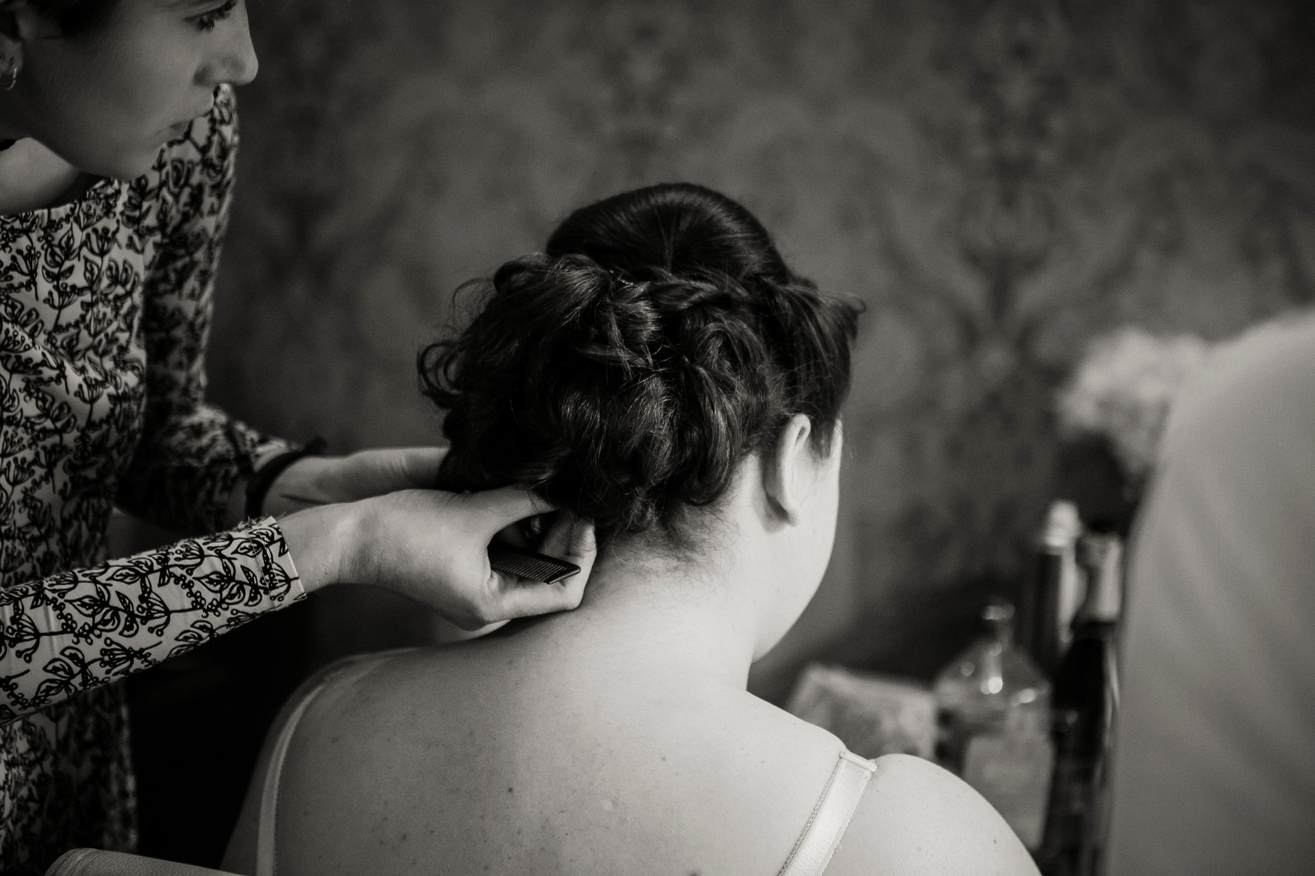 bridal hair wedding photography