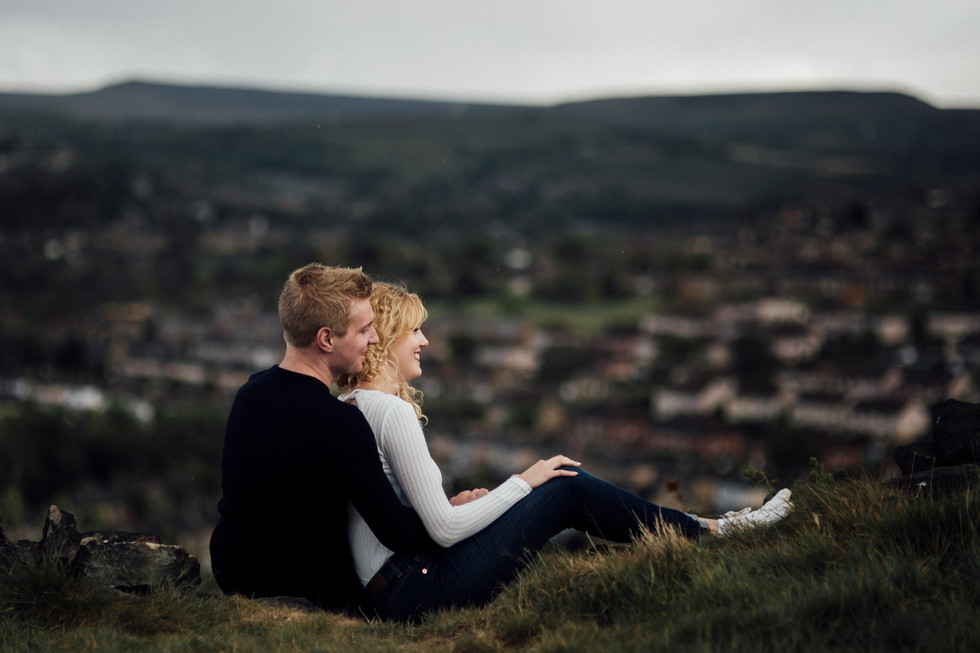 engagement photography in the pennines