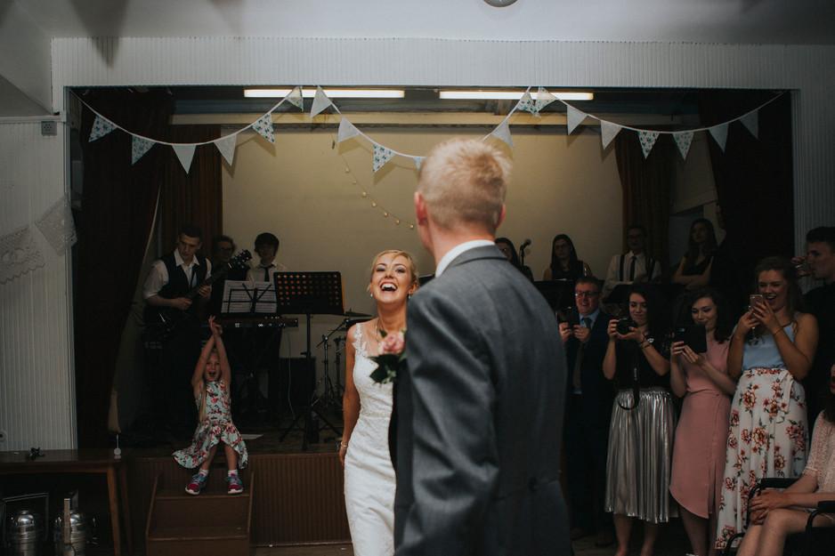 pastel bunting wedding photography