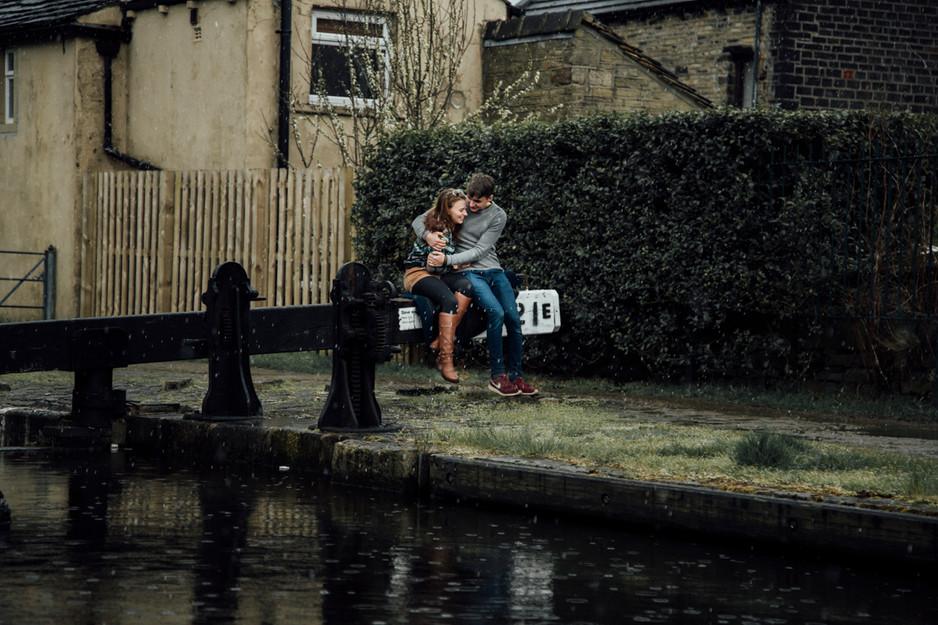 wedding photography marsden canal