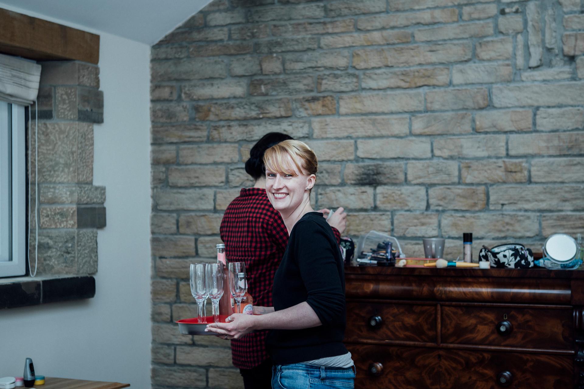 Cottage wedding meltham photographer