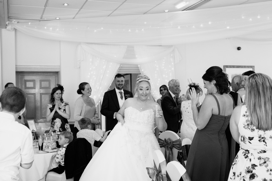 black and white wedding photography Dunkenhalgh Hotel
