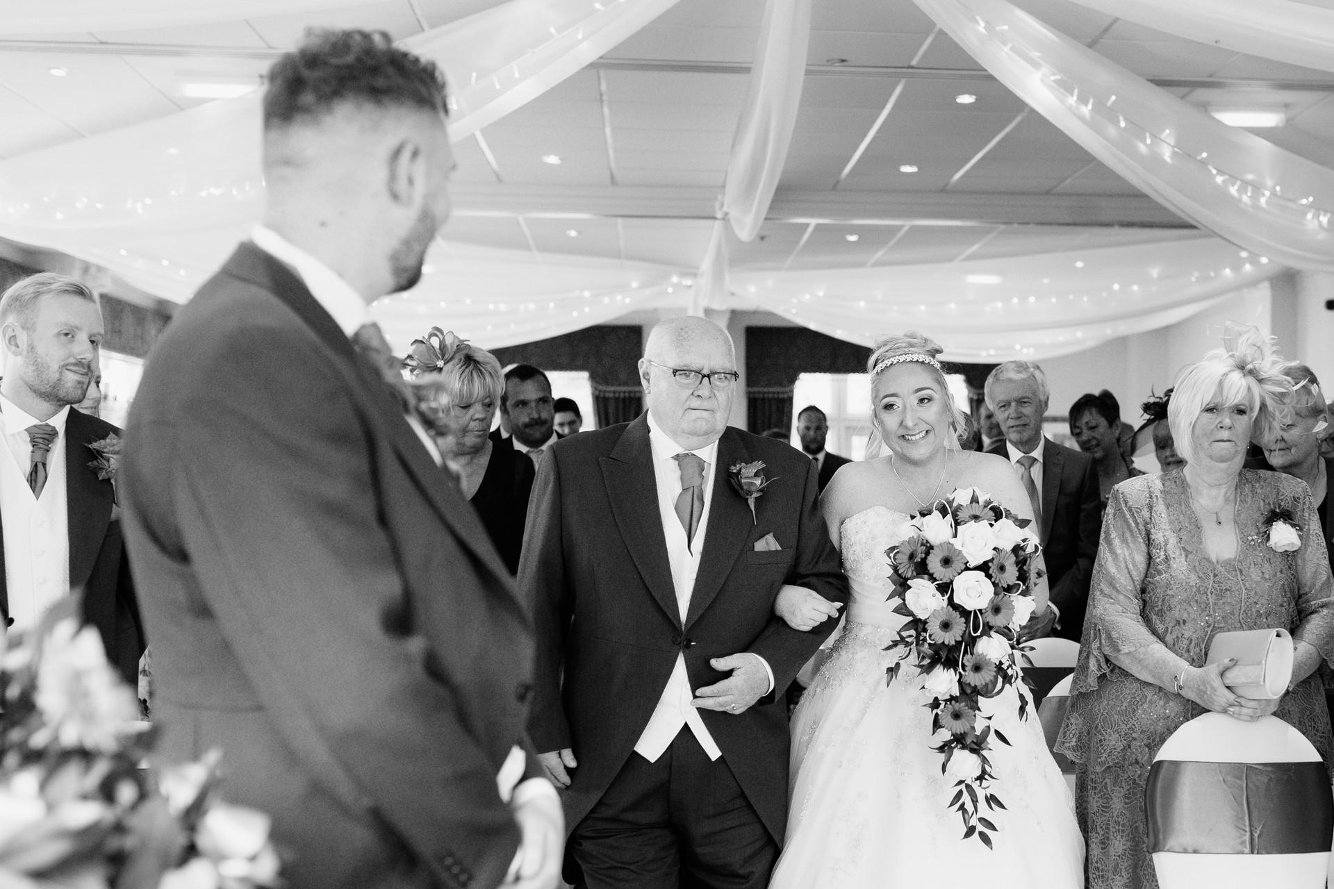 vows at Dunkenhalgh Hotel wedding photographer