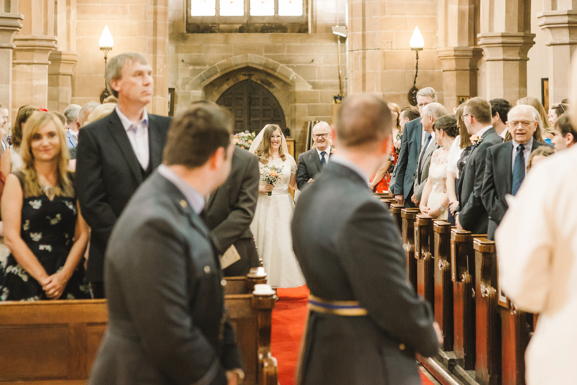 wedding photography in lymm church