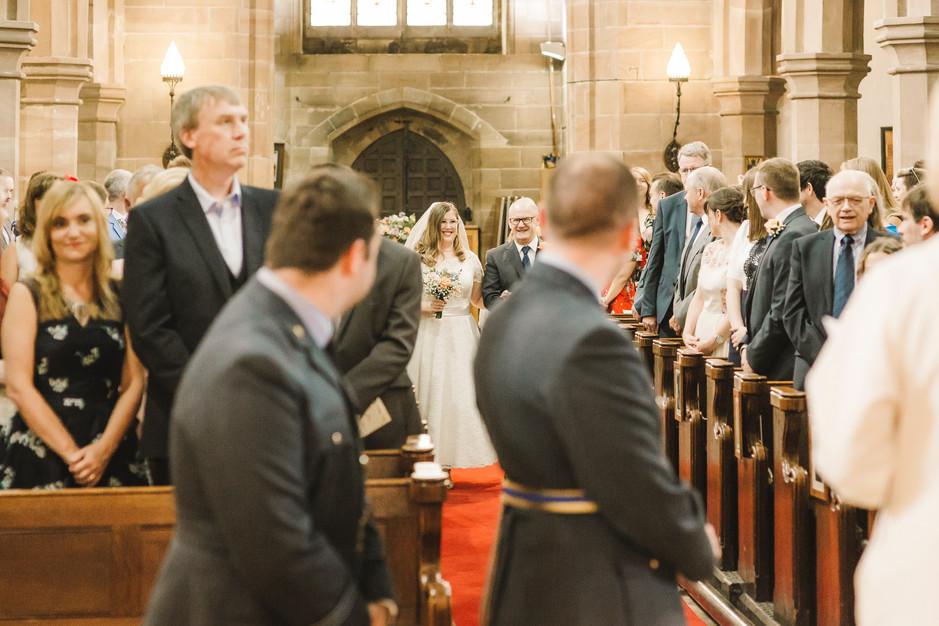 wedding photography in lymm church
