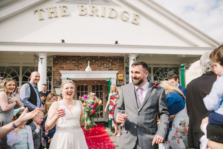 wedding photographer at the bridge inn wetherby