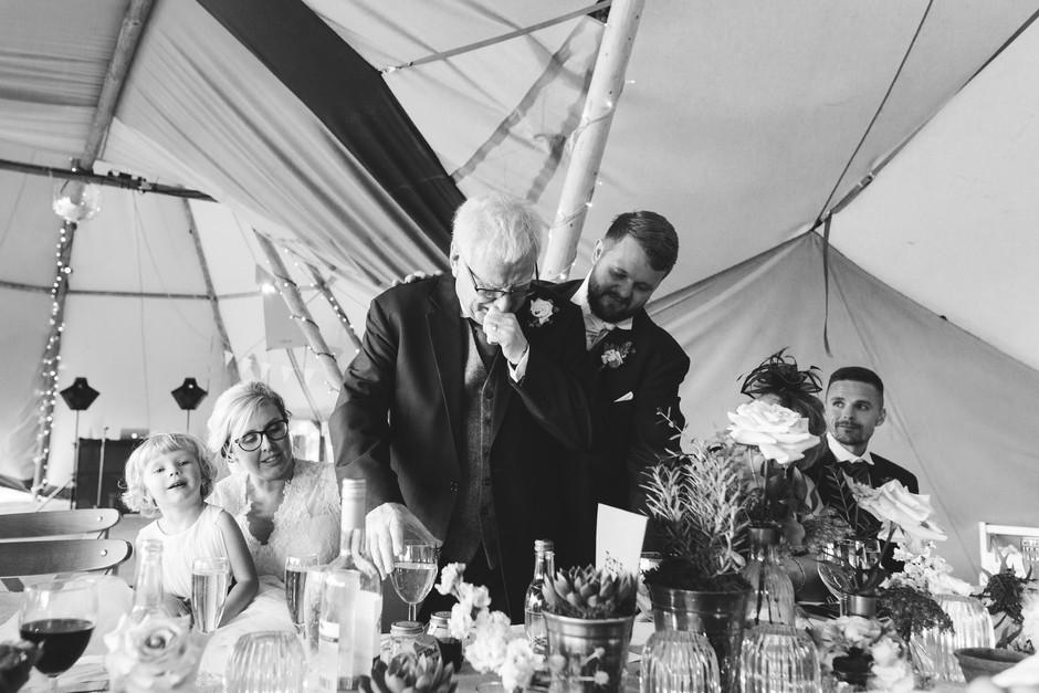 emotional dad tipi wedding chesterfield