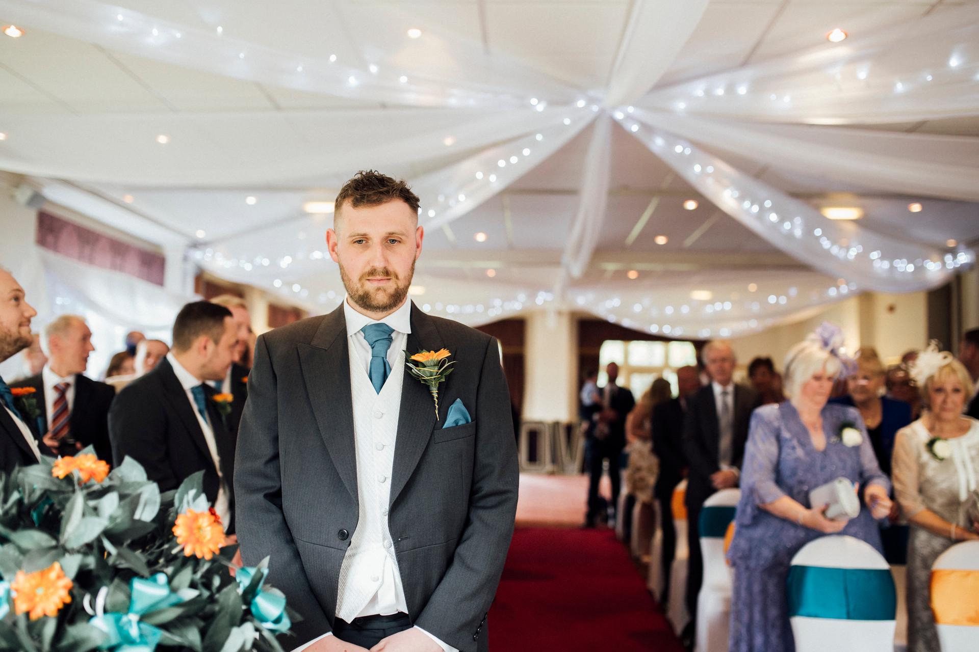 ceremony at Dunkenhalgh Hotel  wedding photography