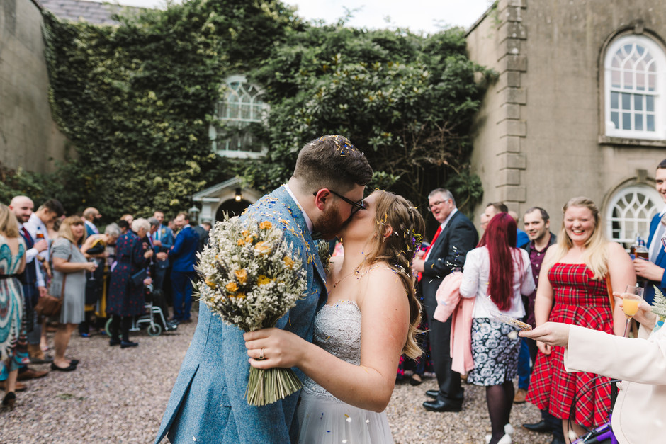 The Old Rectory House Redditch wedding confetti