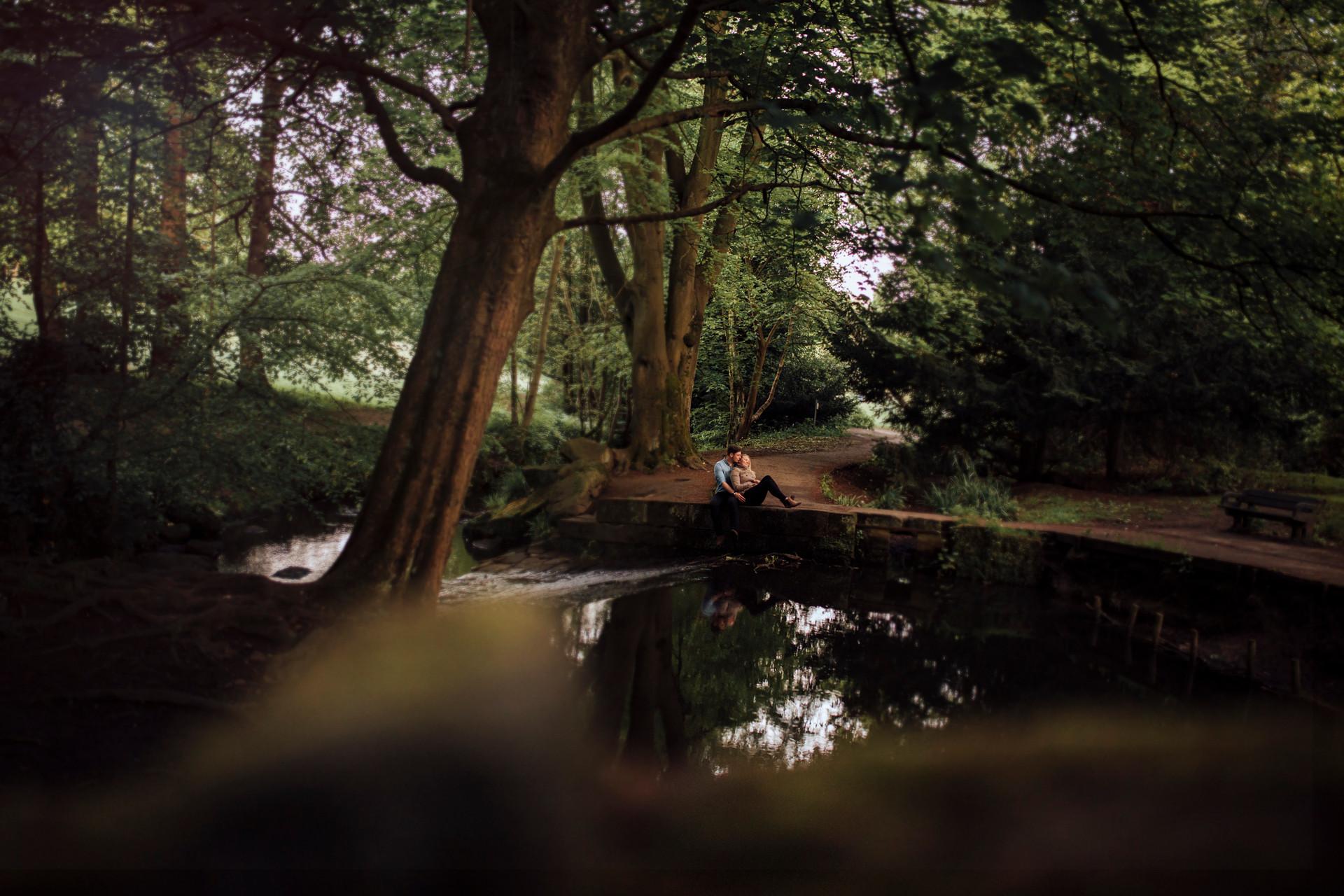 midland park leeds engagement shoot