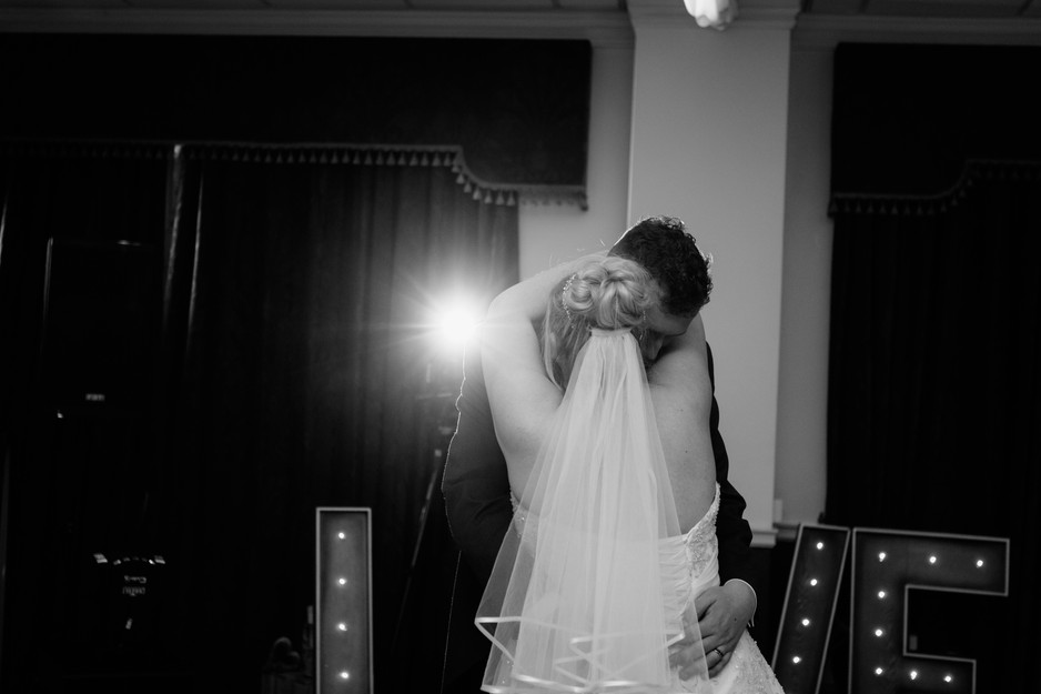 first dance at Dunkenhalgh Hotel