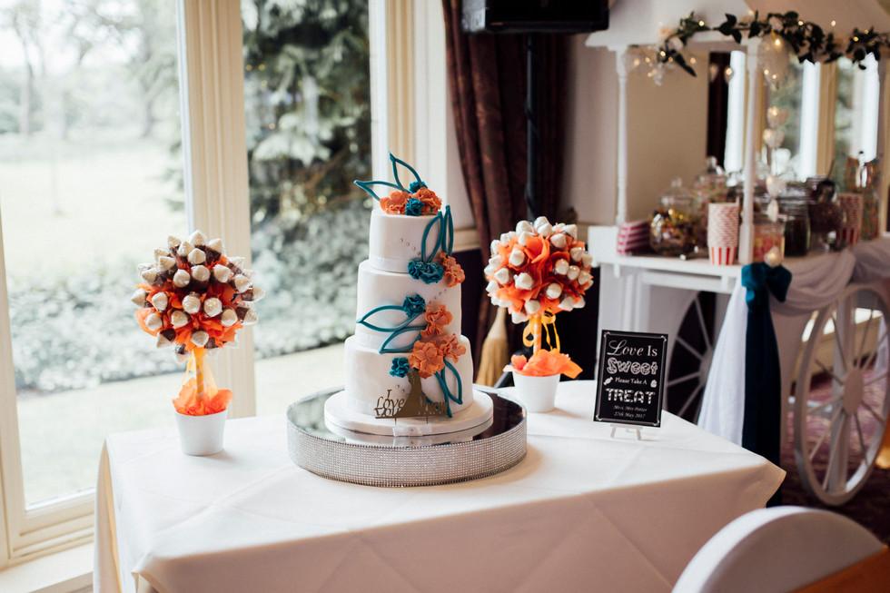 wedding cake Dunkenhalgh Hotel