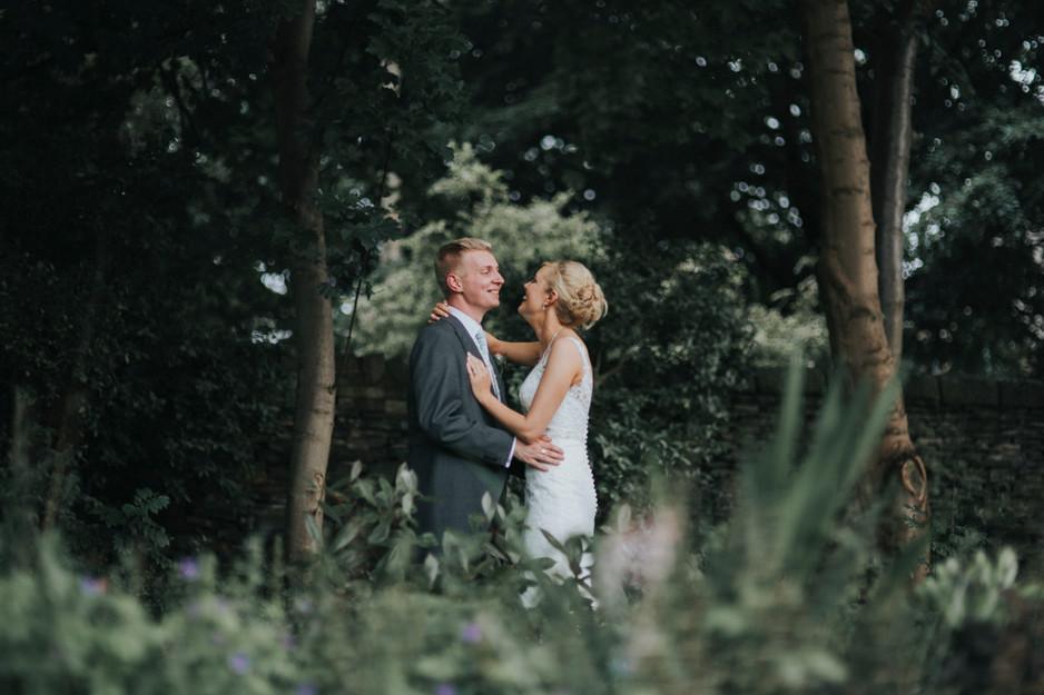 woodland pastel wedding photography