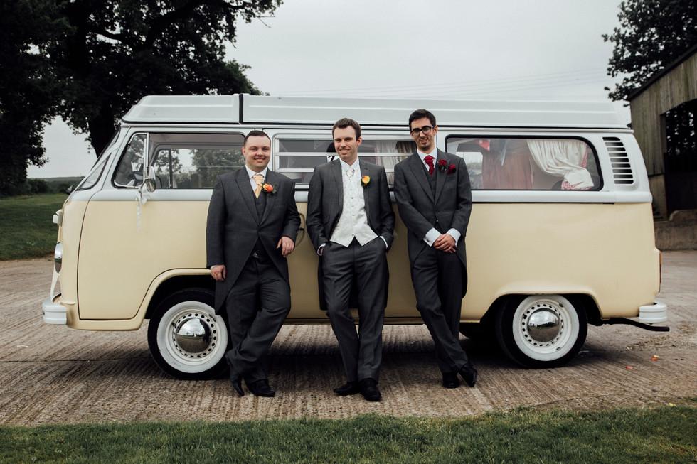 wedding campervan shottle hall