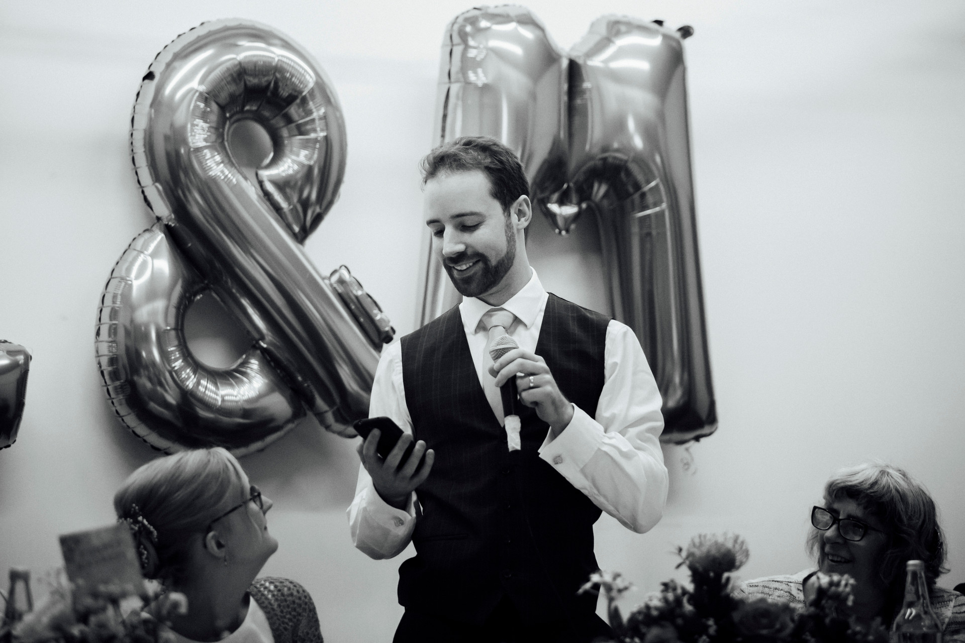 village hall wedding photography meltham balloons