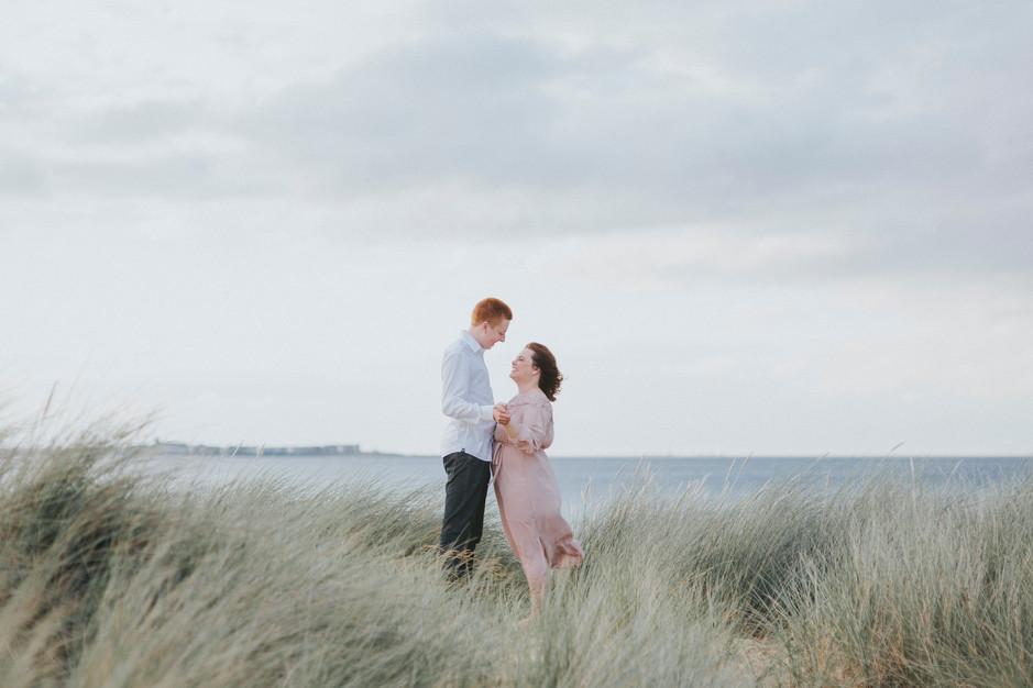 beach wedding photographer whitby sand dune