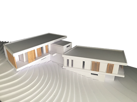Plastico, paper model, white model, minimal design, frangisole, sun louvers, architetto Antonio Bellonio, Brie soleil, Villa Rambo