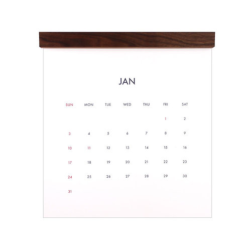 【NEW】minimal calendar 2021 [walnut]