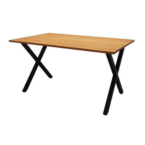 [NEW] iron leg table [X/oak]