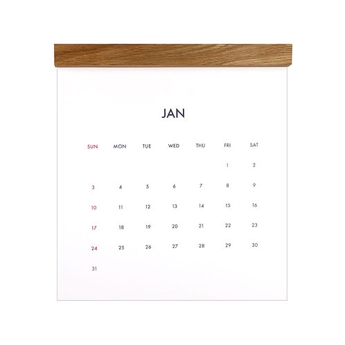 minimal calendar 2021 [oak]