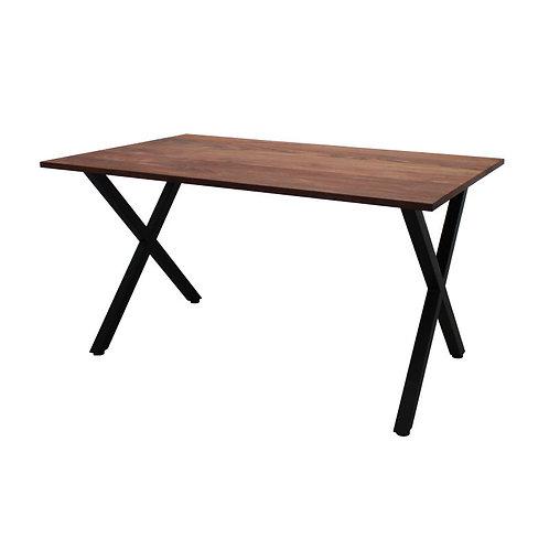 [NEW] iron leg table [X/walnut]