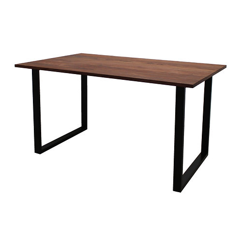 [NEW] iron leg table [square/walnut]
