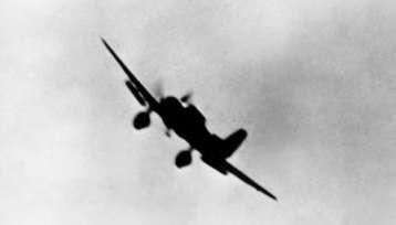 Val Dive Bomber - Speed brakes deployed - Dec 7, 1941