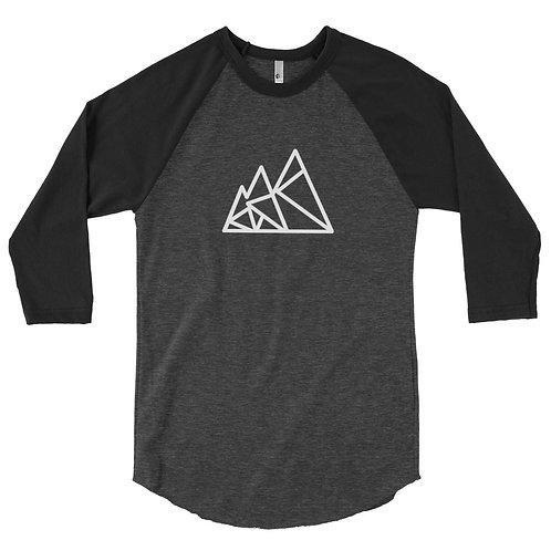3/4 Sleeve Raglan Shirt Gray