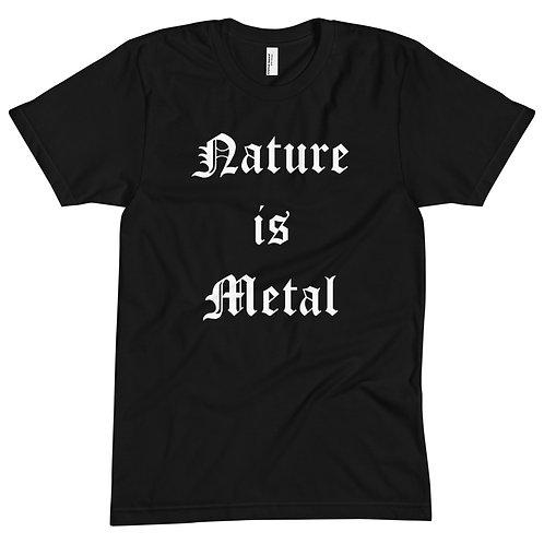 Nature is Metal Black Tee