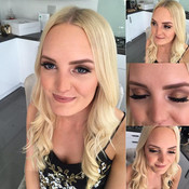 Full, matte coverage for this beauty, Emily wanted a gold, smokey eye to tie in with her outfit 🌟✨🌟#isabellegracemakeupartistry #northdevonm