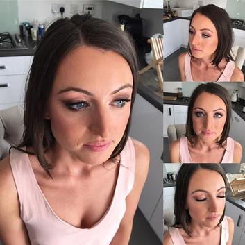 Soft smoked out eye, dewy, bronzed skin and a subtle blush pink lip for Anya's night out #isabellegracemakeupartistry #northdevonmakeupartis