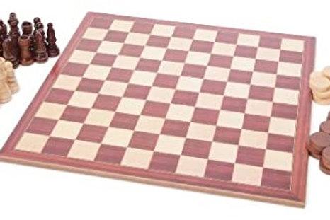 Coffret échecs / dames 32 cm
