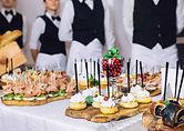 buffet, plats, planche, dessert