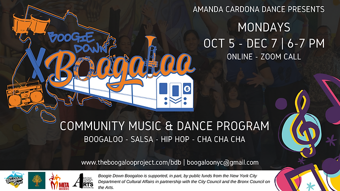 Mondays: Boogie Down Boogaloo Music & Dance Program!