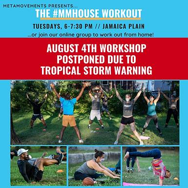 POSTPONED!! Outdoor Workshop: Full Body Fitness & Flexibility Training