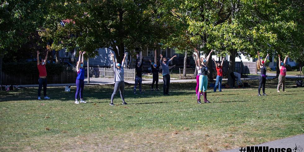Outdoor Cuban Contemporary Training Group